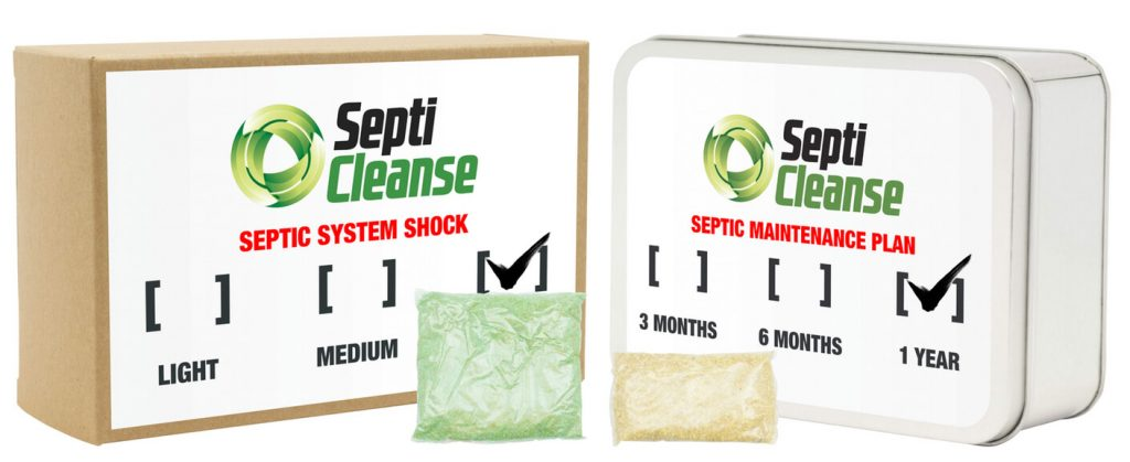 two types of septicleanse treatment